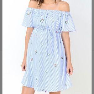 NWOT Hello Miz Maternity Off Shoulder Sun Dress